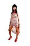 Älskvärd svart flicka. royaltyfria bilder
