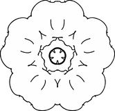 Älskvärd teckning för fredvallmoblomma royaltyfri illustrationer