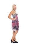 Älskvärd tonårs- flicka i elegant klänning Fotografering för Bildbyråer