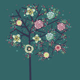 älskvärd tree för design Royaltyfri Foto