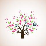 älskvärd tree för design Royaltyfria Bilder