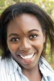 älskvärd utomhus- kvinna för 2 headshot Fotografering för Bildbyråer