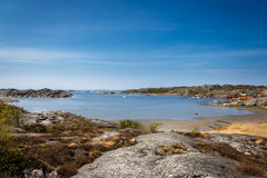 Älskvärda öar med den härliga naturen - Göteborg, Sverige Arkivfoto
