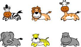 älskvärda djur vektor illustrationer