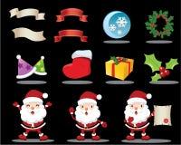 älskvärda julsymboler stock illustrationer