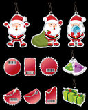 älskvärda julsymboler vektor illustrationer