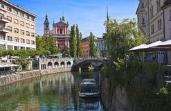 Älskvärda Ljubljana, Slovenien Arkivbilder