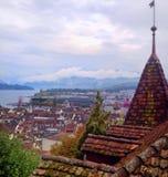 Älskvärda Lucerne Lanscape Arkivfoto