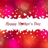 Älskvärda lyckliga hjärtor för dag för moder` s Arkivbild