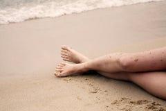 älskvärda strandben long Royaltyfri Foto