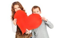 Älskvärda ungar Fotografering för Bildbyråer