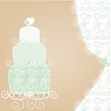 älskvärt bröllop för cake Vektor Illustrationer
