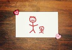 Älskvärt hälsningkort - lycklig faderdag Arkivfoto
