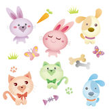 älskvärt husdjur för diagram Stock Illustrationer