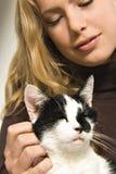 älskvärt mitt för katt Royaltyfria Bilder