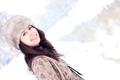 älskvärt nätt leende för flicka Fotografering för Bildbyråer