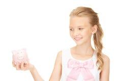 älskvärt piggy tonårs- för gruppflicka Royaltyfri Fotografi