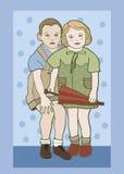 Pojke och flicka Royaltyfri Bild