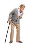 Älter, einen Herzinfarkt habend Lizenzfreie Stockbilder
