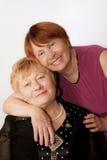 Ältere Ältere des Portraits zwei stockbilder