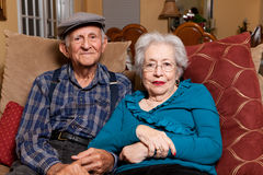 Ältere ältere Paare stockbild