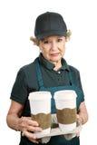 Ältere Arbeitskraft - traurig Stockfoto