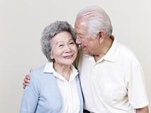 Ältere asiatische Paare Lizenzfreies Stockbild