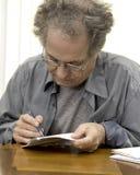 Ältere Buchhaltung Lizenzfreie Stockfotografie