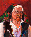 Ältere bulgarische Frau stock abbildung