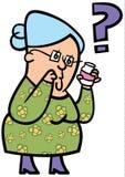 Ältere Dame verwirrt stock abbildung