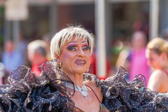 Ältere Dragqueen bei Christopher Street Day Lizenzfreie Stockfotografie