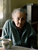 Ältere einsame Frau Lizenzfreies Stockbild