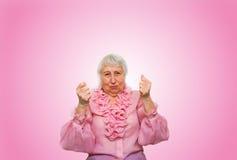 Ältere Frau in der Spannung und in der Bestimmung Stockbilder