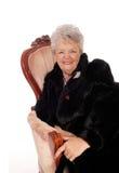 Ältere Frau, die Spaß hat Stockfotografie