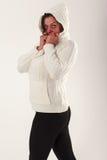 Ältere Frau in einer Grippe Lizenzfreie Stockbilder
