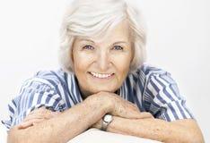 Ältere Frau glücklich Stockbilder