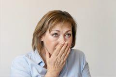 Ältere Frau im Leid Lizenzfreie Stockfotografie