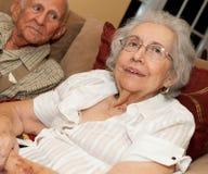 Ältere Frau mit Alzheimer lizenzfreies stockfoto