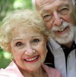 Ältere Frau u. Ehemann Stockfotografie