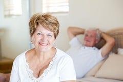 Ältere Frau und Ehemann Stockbild