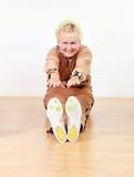 Ältere Frauenübung Stockfoto
