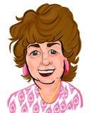 Ältere Frauen-bunte Karikatur-Karikatur stockfotos