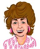 Ältere Frauen-bunte Karikatur-Karikatur vektor abbildung