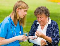 Ältere Frauen-Gesundheit lizenzfreies stockbild