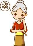 Ältere Frauen leiden Stockfotos