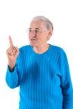 Ältere Frauendaumen oben Stockfoto