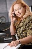 Ältere Geschäftsfrau am Telefon Lizenzfreies Stockfoto