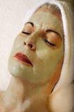 Ältere Gesundheit und Schönheit Skincare Gesichtsbehandlung-Schablone Lizenzfreie Stockfotos
