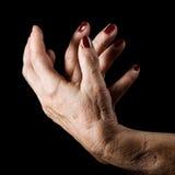 Ältere Hände Stockfotografie