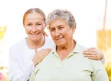 Ältere häusliche Pflege Lizenzfreie Stockfotografie